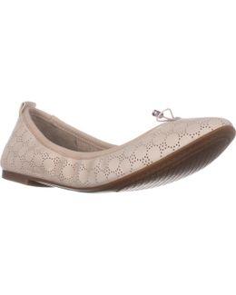 Nalan Bow Decal Ballet Flats