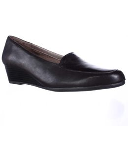 Lovely Slip-on Low Wedge Loafers