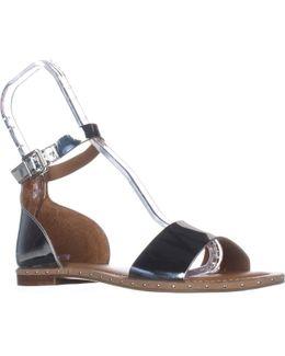 Venice Ankle Strap Flat Sandals