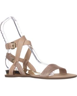 Leigha Ankle Strap Flat Sandals