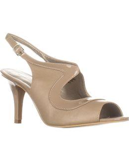 Mentora Peep Toe Slingback Dress Heels