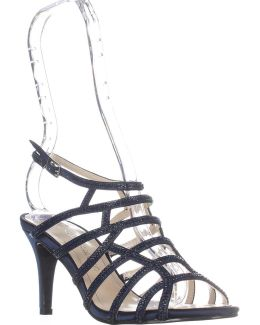 Harmonica Embellished Caged Evening Sandals