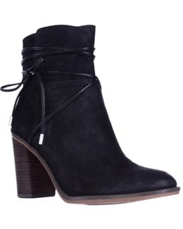 Edaline Wrap Around Ankle Tie Boots
