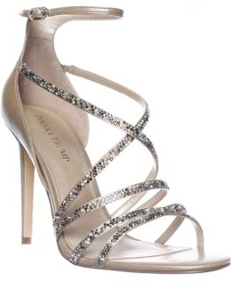 Hyde Ankle Strap Dress Sandals - Gold Multi