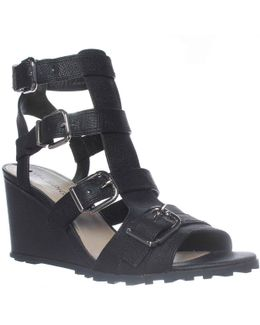 Luxie Ankle-strap Wedge Sandals