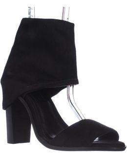Cabos Ankle Wrap Peep-toe Sandals - Black Microsuede