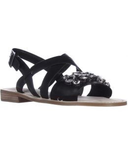 Remmy Jeweled Flat Sandals