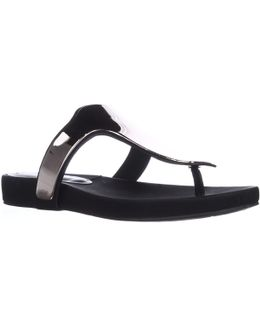 Triumph T-strap Thong Sandals - Black