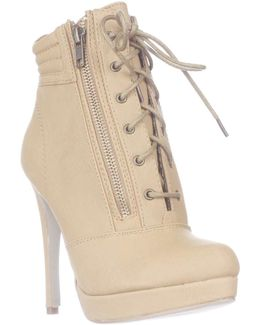 Hartson Platform Lace-up Ankle Boots