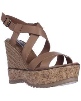 Elllaa Wedge Espadrille Cork Sandals