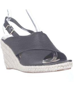 Rosette Esapdrille Slingback Sandals