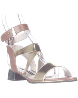 Corazon Ankle Strap Low Dress Sandals
