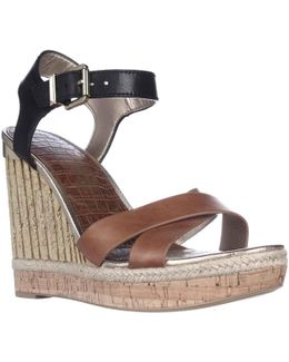 Clay Wedge Ankle Strap Sandals