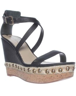 Moss Wedge Ankle Strap Sandals