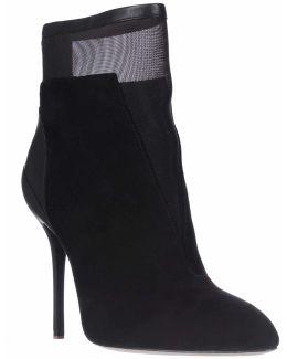Elie Naila Mesh Ankle Fashion Boots - Black