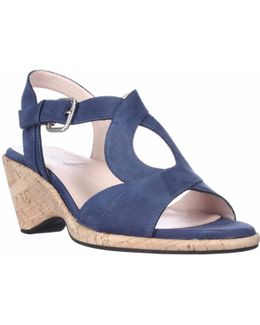Marianna Low Heeled Strap Sandals