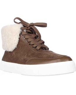 Maia Fleece Foldover Fashion Sneakers - Rattan