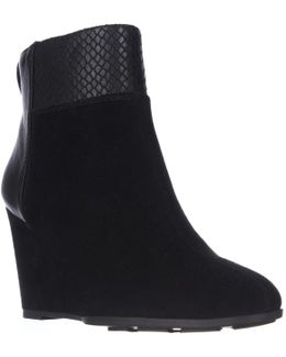 Sutton Wedge Ankle Boots - Black