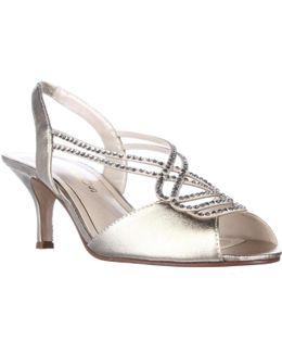 Philomena Gemmed Slingback Dress Sandals