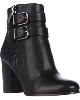 Briella Double Strap Buckle Ankle Boots