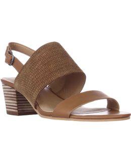 Gewel Block Heel Sandals - Brown Sugar