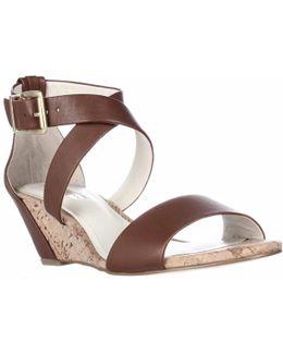 Valisa Cross Strap Wedge Sandals