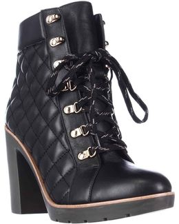 Kate Spade Gianna Quilted Lace Up Ankle Boots
