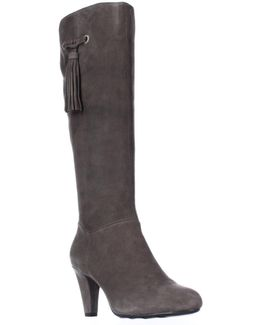 Bacia Wide Calf Tassel Dress Boots