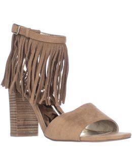 Gilda Fringe Ankle Strap Sandals