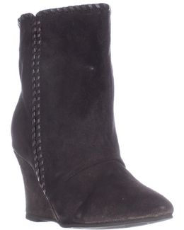 Naya Pull On Wedge Mid Calf Boots