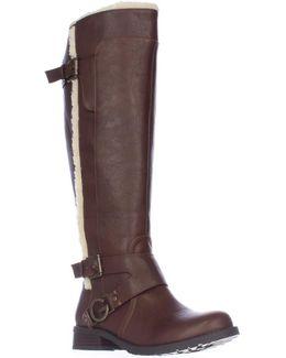 Hollow Top Top Fleece Lined Winter Boots