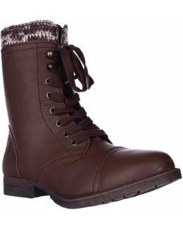 Jeliana Combat Military Boots
