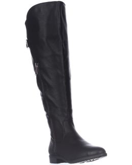 Firstrow Wide Calf Zip Up Riding Boots