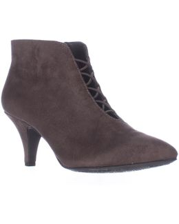 Maxine Cross Strap Ankle Booties
