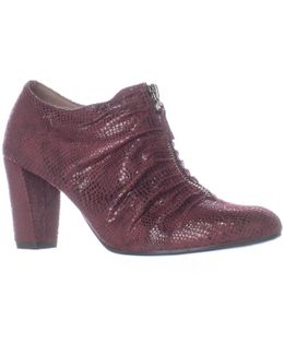 Fortunate Front Zip Scrunch Ankle Boots
