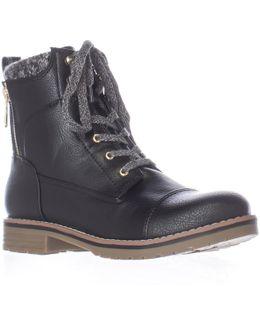 Omar2 Knit Top Combat Boots
