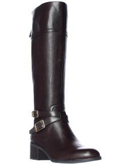 Lapis Wide Calf Riding Boots
