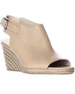 Ingrid Peep Toe Espadrille Wedge Ankle Strap Sandals