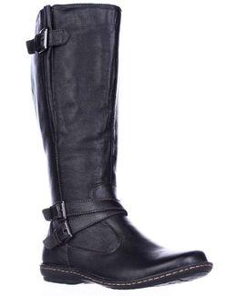 B.o.c. Concept Barbana Wide Calf Riding Boots - Black
