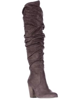 Hazey Over The Knee Slouch Boots