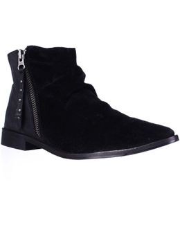 Brody Slouch Shootie Boots - Black