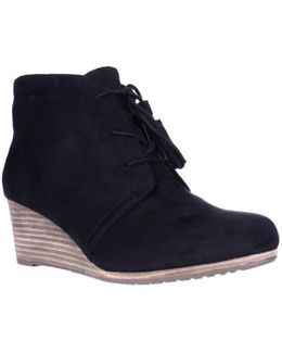 Dakota Wedge Lace Up Ankle Booties