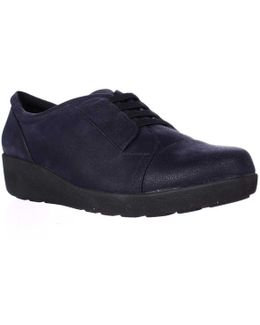 Kandance Wedge Fashion Sneakers - Navy