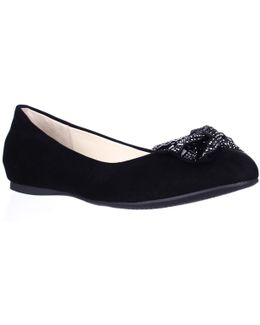 Movey Jeweled Bow Ballet Flats