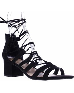 Loverrr Lace Up Heeled Sandals