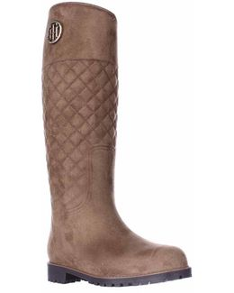 Babette Quilted Rain Boots