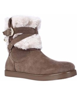 G By Alixa Fuzzy Lined Pull On Short Winter Boots