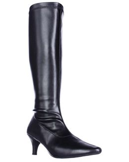 Afterward Pointed Toe Knee High Dress Boots