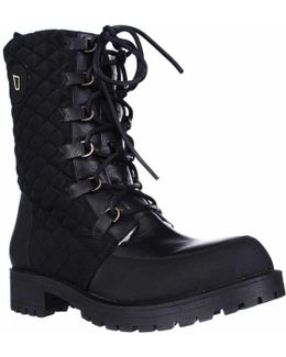 Ketchum Quilted Lace Up Shearling Lined Boots