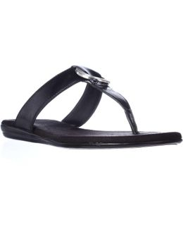 Supper Chlub Thong T-strap Flat Sandals